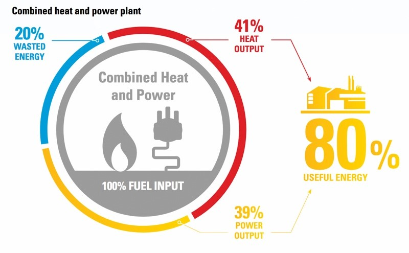 Combined heat and power plant (Source: Manufacturing Chemist)
