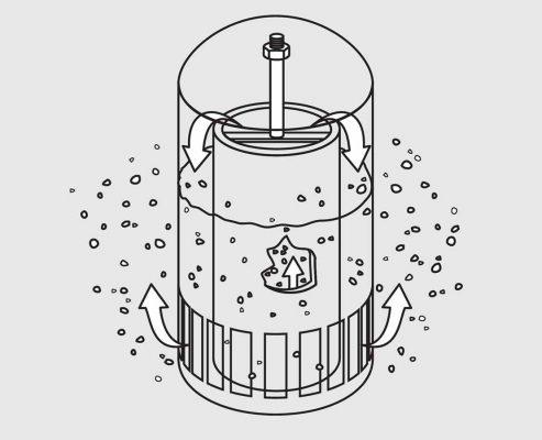 Glycol Dehydration System bubble cap